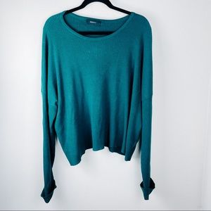 Forever 21 Emerald Green Sweater Long Sleeve Top